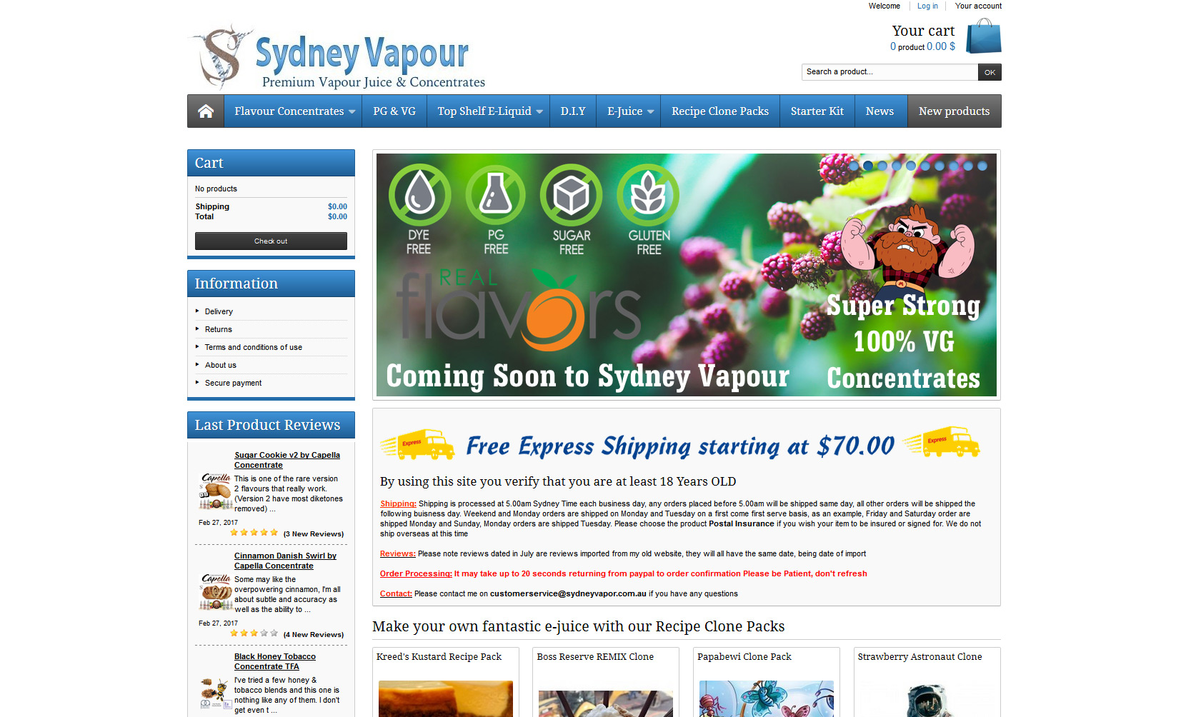 VaporFi Australia - Best Places to Buy E-Liquid: Sydney Empire