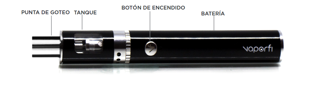 VaporFi Rocket 3 Starter Kit: Device Espanol