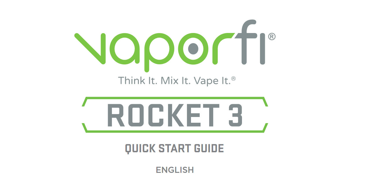 VaporFi Rocket 3 Starter Kit: English