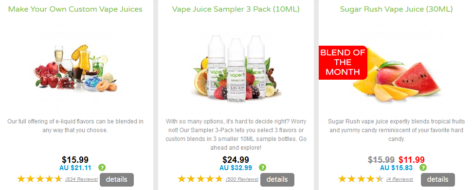 VaporFi Australia - Where to Find Ecit Juice with Nicotine: Nicotine Juices