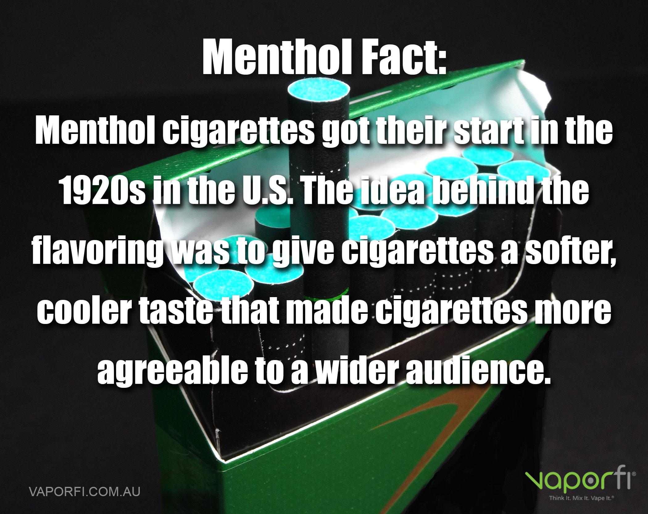 VaporFi AU - ECig for Menthol Lovers: Menthol Fact