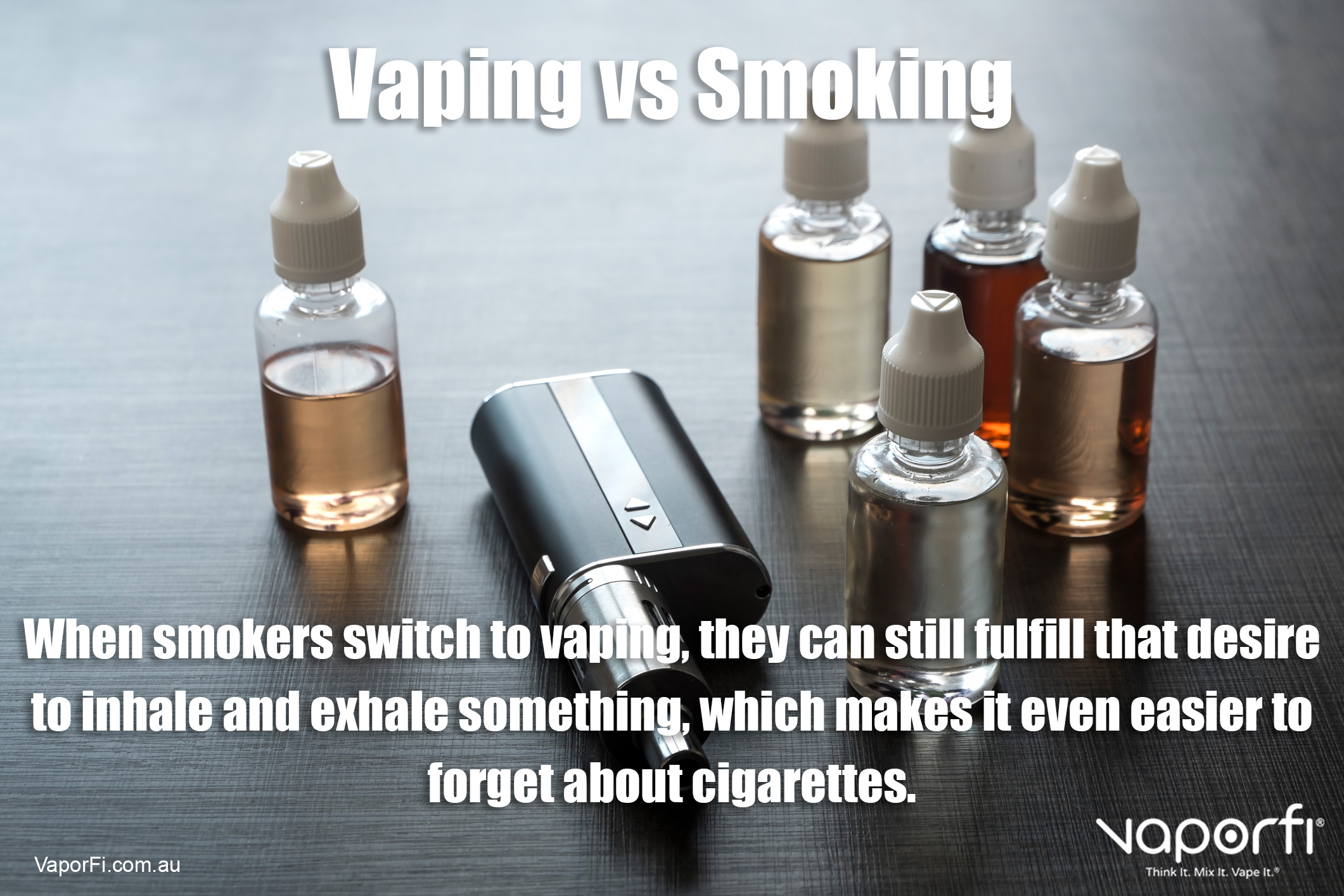 VaporFi Australia - Benefits of Vaping Versus Smoking: Redirect Habit