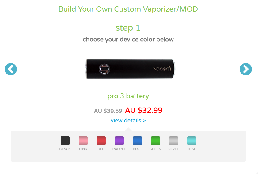 VaporFi AU - Build Your Own Vaporizer