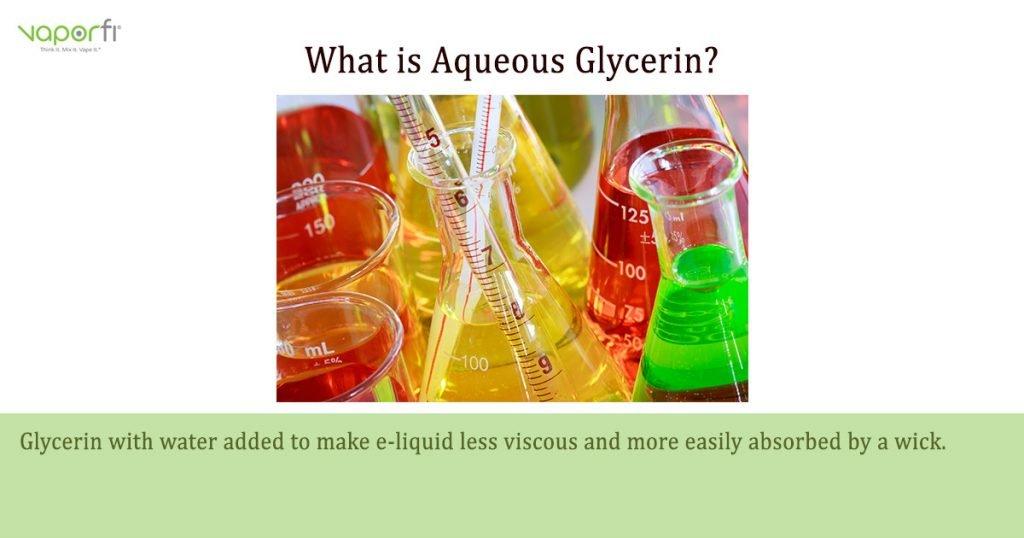 VaporFi Australia Glossary: Define Aqueous Glycerin